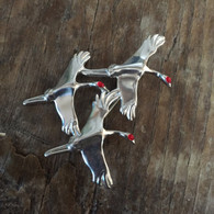 Sandhill Cranes Pin with enamel
