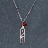 Peace • Love • Cranes ~ Red Crystal Heart