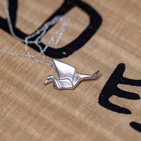 Sterling Silver Origami Pendant