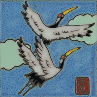 Red-crowned Crane Ceramic Tile
