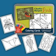 coloring cards Charley Harper
