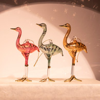 Egyptian Glass Crane Ornaments