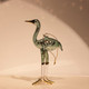 Soft Green Egyptian Glass Crane Ornament