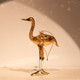 Golden Yellow Egyptian Glass Crane Ornament
