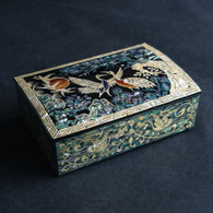 Small Lacquer Rectangular Box with Five Cranes