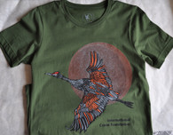 Sandhill Crane Over the Moon Tee