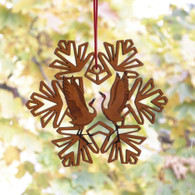 Dancing Cranes Snowflake Ornament