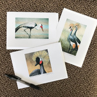African Crane Cards (Set of 3)