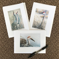Sandhill Crane Cards (Set of 3)