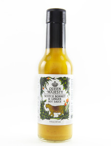 Queen Majesty - Scotch Bonnet Ginger Hot Sauce - Front