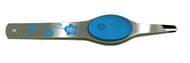 blue floral lighted tweezers