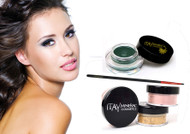 gift kit : Gel eye liner green with foundation mf3