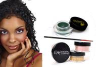 gift kit : Gel eye liner green with foundation mf8