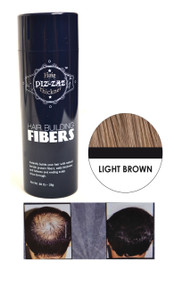 Piz-zaz  All Natural Organic Keratin Protein Hair Fibers | Instant Hair Thickening System - Light Brown