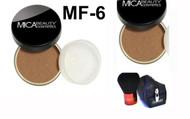 Lot 3 Items: 2x Mica Beauty Foundation Mf-6 Caramel   +Itay Mineral  Premium Kabuki Brush
