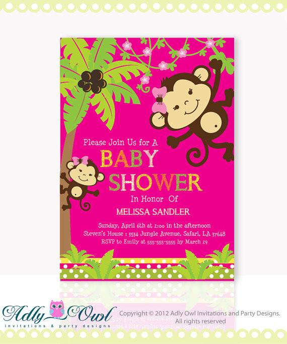Diy Monkey Baby Shower Invitations