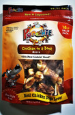"Poochie Chicken On A Bone - 18 Pack ""MICRO"" Small Bones NOTE: Buy 12 Bags Get One Bag FREE! ($13.99 Value) Please view home page top center an important message from hvPet.com for benefits of choosing hvpet.com treats from poochie !"