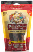 "Beef, Bacon & Cheese Triple Mini Braids by Poochie Dog Treats - 7 pack _ NOTE: ""Unbraid"" These Mini's & You Will have More Treats for your BFF Family Dog(s)"