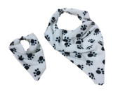 Paw Print Soft Fleece Bandana