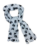 Paw Print Soft Fleece Scarf For Dogs