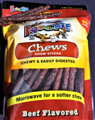"Poochie Daily Chew  ""CANISTER REFILL""  Beef Chewy Sticks- 100CT, Comes in  2 Bags of 50 Chew Sticks Each Bag"