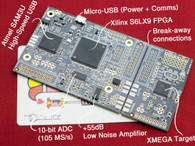 The ChipWhisperer-Lite is designed to grow with you - learn about attacks and targets on the integrated target, before snapping the system apart.