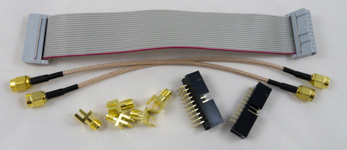 "6"" 20-pin IDC cable & SMA cables can be used to reconnect a ChipWhisperer-Lite."