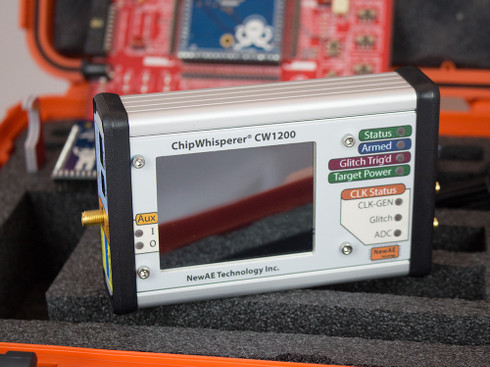 The ChipWhisperer-Pro CW1200 Capture hardware.