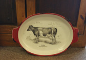 Ganz Decorative Usable Delicate Ceramic with Cow Design (P) not for dishwasher or microwave