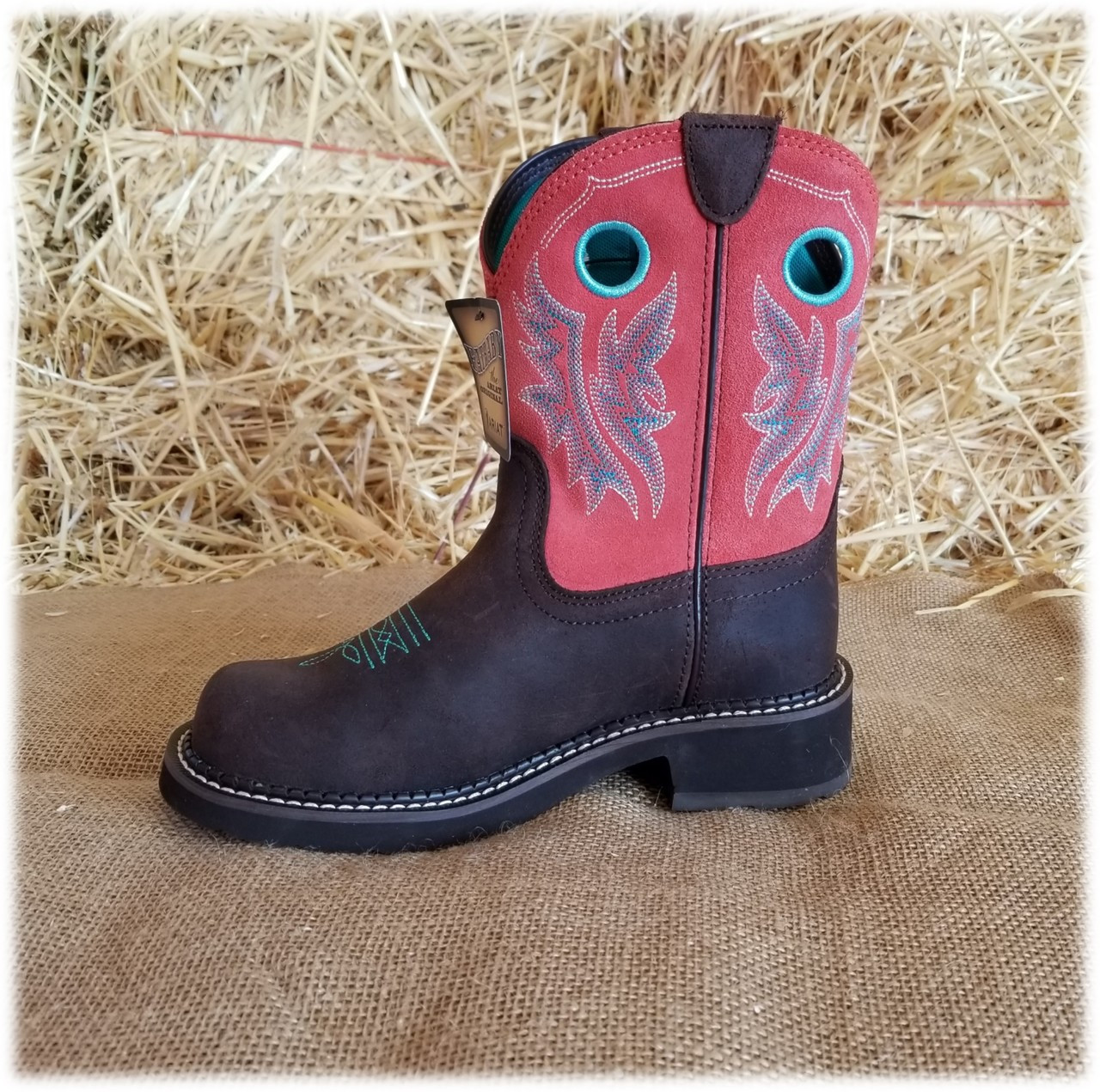 Ariat Pink And Brown Boots
