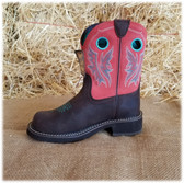 "Ariat Ladies Boot ""The Original Fatbaby Boot"" Rose-Pink Turquoise Brown (in-store-only KC)"