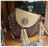 Blazin Roxx Brown Handbag with Concho (P) (available in store only)