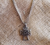 M & F Stout Celtic Style Knotted Cross with Chain