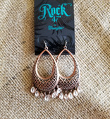 Rock 47 Copper-Tone & Bling Earrings