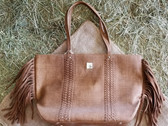 Angel Ranch Ladies Large Tote/Hand-Bag Brown Fringe Design