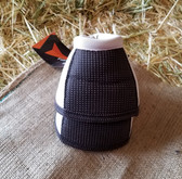 Fast Back Bell Boots for horse, white & black, size medium
