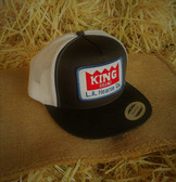 King Brand Ball Cap Summer Black and White with Logo Patch Embroidered (adjustable back) Adult Size