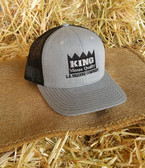 King Brand Ball Cap Summer Gray With Black Mesh (adjustable) Adult Size