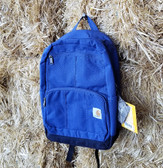 "Carhartt Blue Back-pack 13"" x 17.5"" x 8"" Rain Defender Durable Water Repellent"