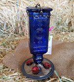 Antique Blue Bottle Hummingbird Feeder 24 oz. capacity (KC)