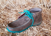 Twisted X Women's Driving Mocs Lace up Turquoise Laces (in-store-only-KC)
