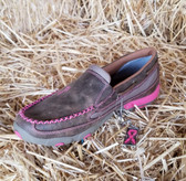 Women's Slip on Driving Moccasins Bomber Neon Pink  (in-store-only-kc)