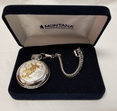 Montana Silversmiths Pocket Watch Bull Rider