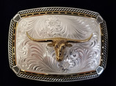 Montana Silversmiths Steer Head Belt Buckle