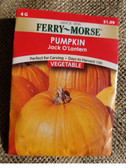 Ferry Morse Pumpkin Jack O Lantern Seeds, see our entire selection in our King City store