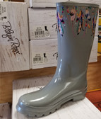 Blazin Roxx Briana Rain Boot Gray With Feather Design