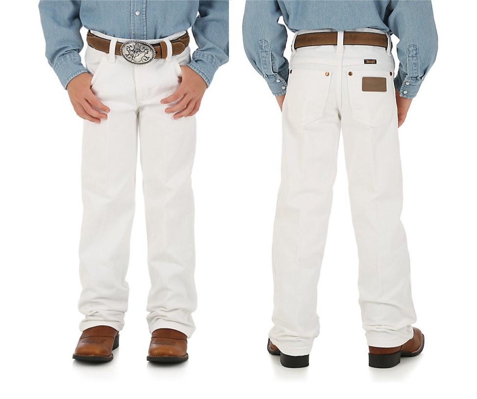 3f91ce07 SAVE Boy's & Girl's Pants! White WRANGLER® COWBOY CUT® ORIGINAL FIT ...