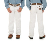 SAVE Boy's & Girl's Pants!  White WRANGLER® COWBOY CUT® ORIGINAL FIT JEAN (8-16) in store only