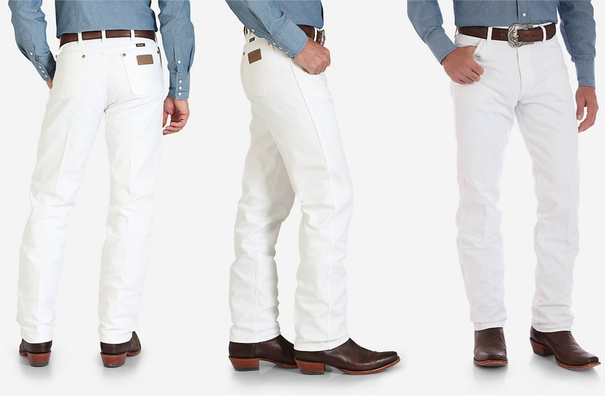dc45c79d Men's White WRANGLER® COWBOY CUT® ORIGINAL FIT JEAN (in store only ...