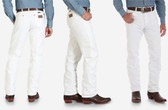 Men's White WRANGLER® COWBOY CUT® ORIGINAL FIT JEAN (in store only)